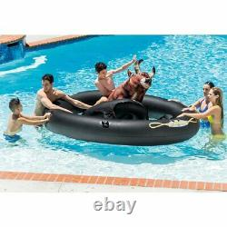 Inflatable Ride On Bull Pool Toys For Kids Adults Swimming Pools Floaties Raft