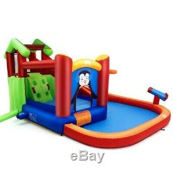 Inflatable Slide Bouncer and Water Park Bounce House Summer Kids Games Swim Pool