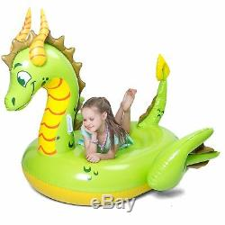 Inflatable Storybook Dragon Pool Float, Fun Beach Floaties Swim Party Toy