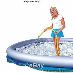 Inflatable Swimming Pool 12'x30 withFilter Family Fun Backyard Round Above Ground