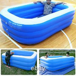 Inflatable Swimming Pool Outdoor Backyard Inflated Water Tubs Kids Adults 6 Size