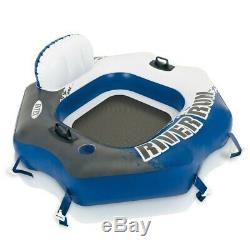 Inflatable Swimming Water Float Pool Lounge Seat Chair Summer Lake Adult Safety