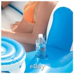 Inflatable Tropical Tahiti Island Raft Floating 7 Person Pool Lake Party Lounge