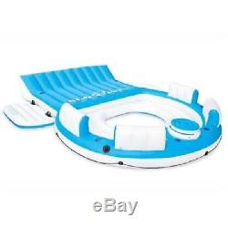 Inflatable Tropical Tahiti Island Raft Floating Lake Party Lounge 6 Person Pool