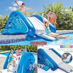 Inflatable Water Slide Bounce Play Center Swimming Pool Yard Garden Kids Fun Toy