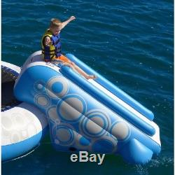 Inflatable Water Slide Outdoor Fun Pool River Sea Travel Accessory Kids Blue NEW