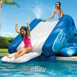 Inflatable Water Slide for Swimming Pool Outdoor Play Center with Sprayer NEW