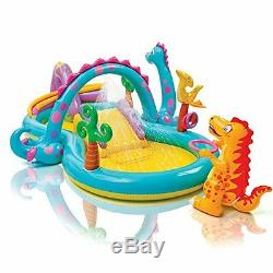 Inflatable Water Slides Outdoor Water Park Dinoland Bounce House Kid Play Summer