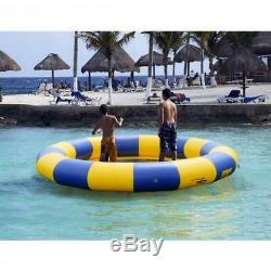 Inflatable Water Trampoline Bouncer 15 Ft Jump Float Swimming Pool Beach Ring