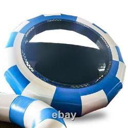 Inflatable Water Trampoline Bouncy Jumper Floating Pool Summer Kids Toy Fun Play