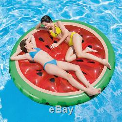 Inflatable Watermelon Slice Island Swimming Pool Water Fun Air Lilo Raft Float