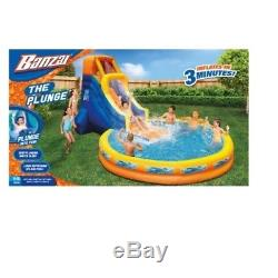 Inflatable Waterslide Backyard The Plunge Giant Oversized Pool Swimming Family