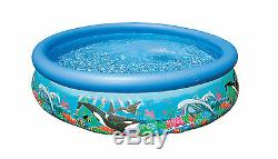 Intex 10' x 30 Easy Set Kids Inflatable Above Ground Swimming Pool with Pump