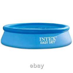 Intex 10' x 30 Easy Set Round Inflatable Above Ground Pool With Filter Pump