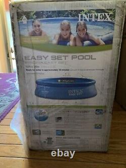 Intex 10ft x 30in Easy Set Inflatable Above Ground Pool with Filter Pump SHIPS NOW