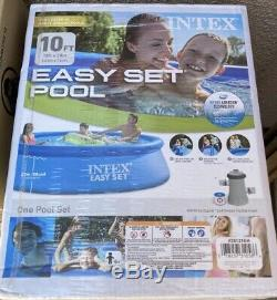 Intex 10ft x 30in Easy Set Swimming Pool with Filter Pump New