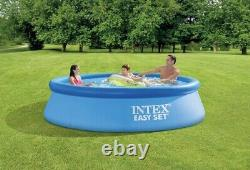 Intex 10ftX30in Easy Set Inflatable Kid Swimming Pool with 330 GPH Filter Pump