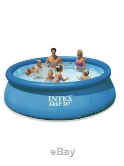 Intex 12' x 30 Easy Set Inflatable Above Ground Swimming Pool Pump & Filter