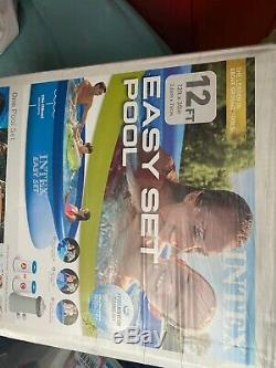 Intex 12ft x30in Easy Set Up Inflatable Swimming Pool & Filter Pump SHIPS FAST