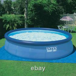 Intex 15 Ft x 42 In Inflatable Round Outdoor Above Ground Swimming Pool Set