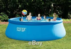 Intex 15 ft x 48 Inflatable Easy Set Above Ground Swimming Pool with Ladder & Pump