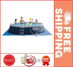 Intex 15' x 42 Easy Set Inflatable Above Ground Swimming Pool with Ladder, Pump