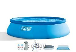 Intex 15' x 42'' Easy Set Up Inflatable Above Ground Swimming Pool Set SHIPS NOW
