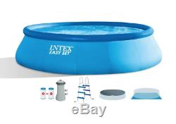 Intex 15' x 42 Inflatable Easy Set Above Ground Swimming Pool with Ladder & Pump