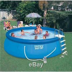 Intex 15' x 48 Above Ground Inflatable Swimming Pool with Pump (For Parts)