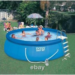 Intex 15' x 48 Inflatable Above Ground Bundle with Pool Care Chlorine Tabs, 25 Lb