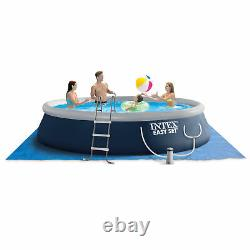 Intex 15ft x 42in Easy Inflatable Above Ground Pool with Ladder, Pump (For Parts)