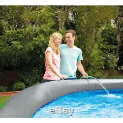 Intex 15ft x 42in Easy Set Inflatable Above Ground Swimming Pool with Ladder, Pump