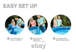 Intex 15ft x 42in Easy Set Up Inflatable Above Ground Pool Set (For Parts)
