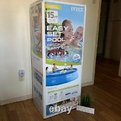 Intex 15ft x 42in Easy Set Up Inflatable Above Ground Swimming Pool Set