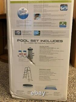 Intex 15ft x 42in Inflatable Above Ground Easy Set Swimming Pool Set with Ladder