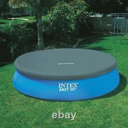 Intex 15ft x 42in Inflatable Easy Set Swimming Pool with Ladder & Pump (2 Pack)