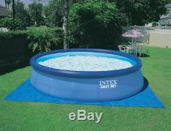 Intex 18 x 4 Foot Inflatable Easy Set Pool with Ladder, Pump, & Winterizing Kit