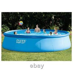 Intex 18 x 4 ft Inflatable Above Ground Pool Set with Pool Care Chlorine, 10 Lbs