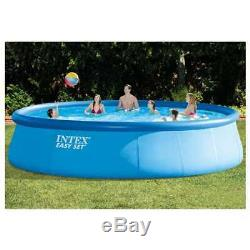 Intex 18' x 48 Inflatable Above Ground Swimming Pool with Ladder & Pump(Open Box)
