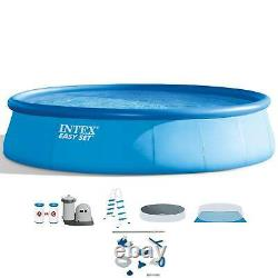 Intex 18' x 48 Inflatable Easy Set Pool with Ladder, Pump, and Maintenance Kit