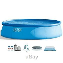 Intex 18Ft x 48In Inflatable Round Outdoor Above Ground Swimming Pool Set DMV
