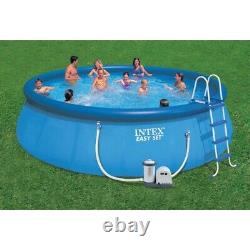 Intex 18ft x 48in Inflatable Above Ground Swimming Pool with Ladder