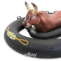 Intex 24' x 12' x 52 Swimming Pool Set with Giant Bull-Riding Inflatable Float