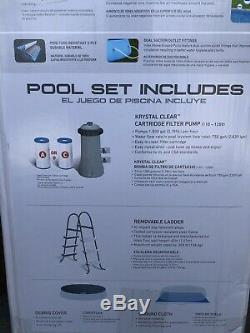 Intex 26165EH 15ft x 42in Easy Set Up Inflatable Above Ground Swimming Pool Set