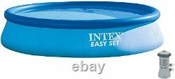 Intex 28141EH 13' x 33 Inflatable Easy Set Swimming Pool with Filter Pump