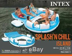 Intex 56299EP Inflatable Splash N Chill Island Pool Lake Raft Lounger for Adults