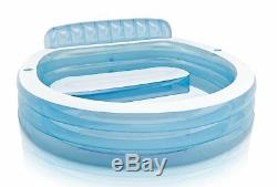 Intex 7.33ft x 30in Swim Center Inflatable Pool with Built In Bench (2 Pack)