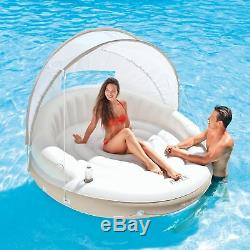 Intex 78 x 59 Inflatable Pool Canopy Island Lounge Water Raft with Shade (4 Pack)