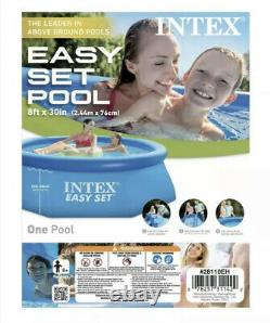 Intex 8'x24 Easy Set Round Inflatable Above Ground Pool with Filter & Pump
