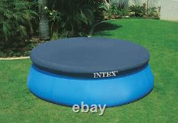 Intex 8ft Easy Set Inflatable Above Ground Round Swimming Pool and Pool Cover